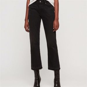Allsaints Ava High Rise Cropped Straight Leg Jeans